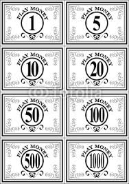 26 best images about printable play money templates on pinterest