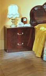 italian classic mahogany nightstand