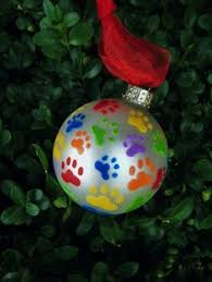 personalized doggie paw print ornament 10 00 via