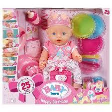 baby s birthday zapf creations baby born interactive happy birthday doll 823064 ebay