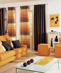 And Orange Curtains Astounding Brown And Orange Living Room Curtains Nakicphotography