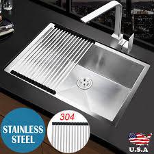 Ebay Kitchen Sinks Stainless Steel by Stainless Steel Kitchen Sink Topmount Ebay