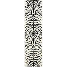 Zebra Runner Rug Safavieh Handmade Soho Zebra Ivory Black N Z Wool Runner 2 6 X