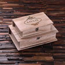 personalized wooden keepsake box personalized wooden book keepsake box small large of set of 2