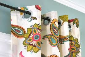 Easy No Sew Curtains How To Make No Sew Grommet Curtains Ofs Maker U0027s Mill