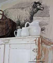 farmhouse sheep artwork french country cottage