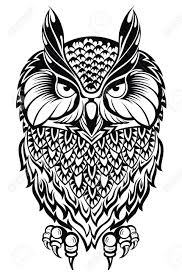 owl tattoo owl royalty free cliparts vectors and stock