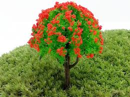colorful artificial mini trees miniatures plants garden