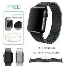 butterfly clasp bracelet images Urvoi link bracelet for apple watch band stainless steel strap jpg