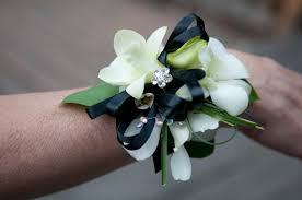 white orchid corsage fresh from stems p r o m