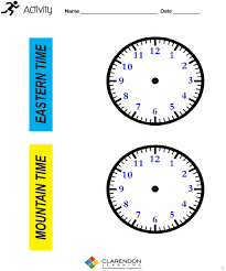 time zones lesson plan clarendon learning