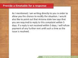 how to write a formal complaint letter landlord compudocs us