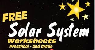 solar system learning pack for preschool kindergarten and 1st
