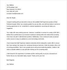 sample job counter offer acceptance letter docoments