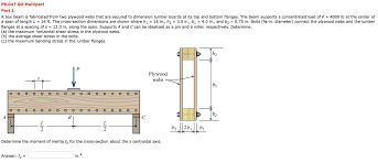Box Beam A Box Beam Is Fabricated From Two Plywood Webs Tha Chegg Com