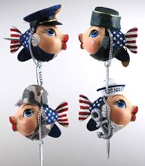 fish ornaments army navy marines air