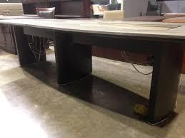 Tuohy Reception Desk Tuohy Custom Made Boat Shape 12 Foot Granite Inlay U0026 Dark Cherry