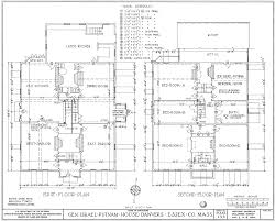 Floor Plan Of A Library file putnam house floor plans jpg wikimedia commons
