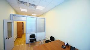 Small Office Cabinet Interior Of Small Empty Office Room With Black Armchair View From