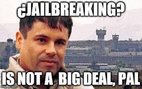 Jailbreak Meme - image tagged in memes jailbreak chapo guzman chapo imgflip