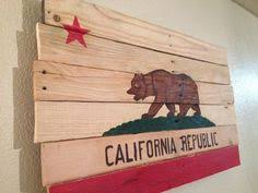 california flag rustic wood sign decor home and living