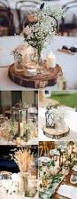 Handmade Centerpieces For Weddings by 50 Budget Friendly Rustic Real Wedding Ideas Wooden Table
