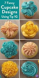 7 easy ways to decorate cupcakes using tip 1g create 7 fancy