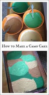 how to make a camo cake