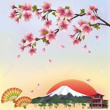Japanese Cherry Blossom Tree by Beautiful Background In Japanese Style With Sakura Blossom