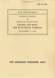half track paperprint wwii military vehicle manuals