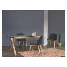 glass dining table for sale dublin 4 seater oak and glass dining table buy now at habitat uk