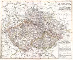 bohemia map file 1850 perthes map of bohemia republic geographicus