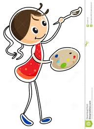 Paint Pallet by A Woman Holding A Paint Pallet And A Paint Brush Stock Images