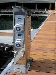 marina power and lighting marine dock pedestals pedestal rocket launchers amazing project on