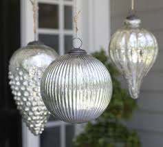 oversized mercury glass ornaments pottery barn