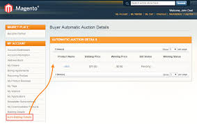auto bid auction magento marketplace seller auction