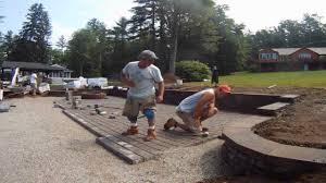 Installing Pavers Patio Permeable Paver Patio Installation Time Lapse