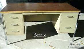 metal desk with laminate top modern metal desk for sale intended with hutch office excellent old