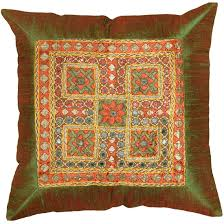 Accent Pillows For Brown Sofa by Silk Zardozi Pillows Archives Kashmir Fine Arts U0026 Craftskashmir