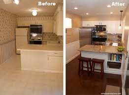 cheap kitchen reno ideas kitchen remodel before and after repainted the countertops with