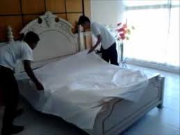 bed making 5 star hotel bed making procedure wmv youtube
