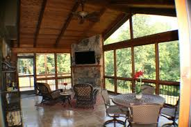 new screened porch with corner fireplace yelp