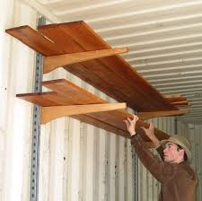Making Wooden Shelf Brackets by Quick And Easy Shelves For Shipping Container 6 Steps