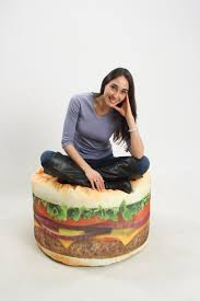 home theater bean bag chairs amazon com wow works hamburger beanbag chair 86776a