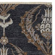 Ottoman Rug Ottoman Garden Knotted Rug Indian Ink Sepia Williams Sonoma