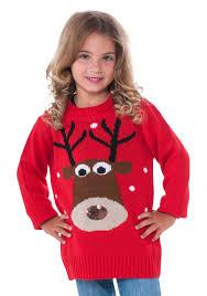 child reindeer ugly christmas sweater