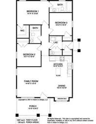 three bedroom two bath house plans floor plan for a small house 1 150 sf with 3 bedrooms and 2 baths