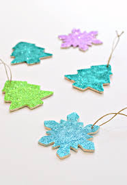 diy clay and glitter christmas ornaments with video diy home