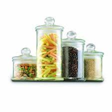 clear glass canisters for kitchen anchor hocking glass kitchen canister sets ebay