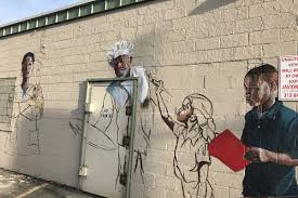 Mural Artist by Local Artists Create New Murals For Small Businesses Across